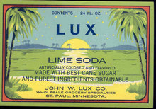 Lux Lime Soda Label