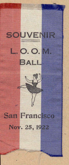 LOOM Fraternal Silk Ribbon 1922