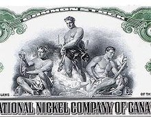 International Nickel Canada Stock Certificate