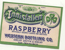 Raspberry  Innisfallen Soda Label