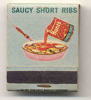 Hunts Ribs Matchbook