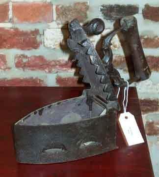 Antique Cast Iron Coal Clothes Iron