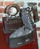 Antique Cast Iron Coal Clothes Iron
