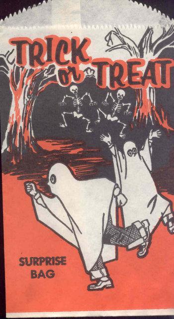 Halloween Ghosts Trick Bag