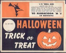 Woolworth Candy Bag Header & Snack Bag