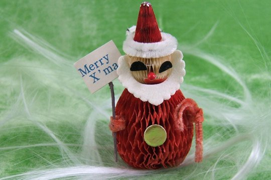 Santa Claus Honeycomb Ornament