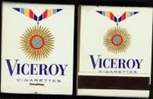 Viceroy Cigarettes Matchbooks