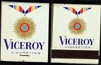 Viceroy Cigarettes Matchbooks