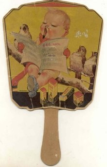 Laxative Advertising Fan 1900s