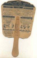 Laxative Advertising Fan 1900s