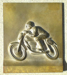 Metal Motorcycle Sign