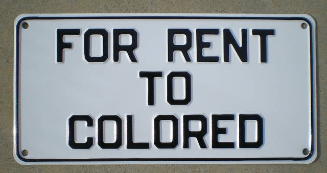 Rent to Colored Metal Sign