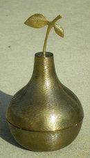 Brass Pear Container