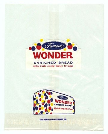Wonder Bread Wrapper Bags 1950s