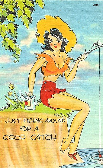 Pin-Up Linen Postcards Unused 1940s