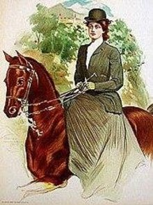 Victorian Horse Riding Print