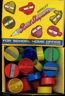 School Pencil Sharpener Display Box Full