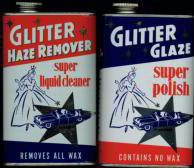 Glitter Automobile Polish Tins 1950s