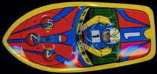 Friction Powered Motor Boat Toy