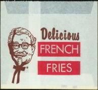 KFC Snack Bags 1960s