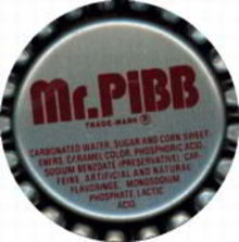 Mr. Pibb Soda Bottle Cap 1970s