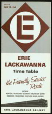 Lake Erie Lackawanna RR Timetable