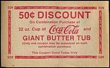 Coca Cola Movie Popcorn Coupon 1970s