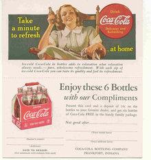 Coca-Cola Carton Coupon 1940s