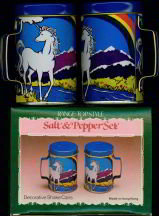 Unicorn Salt Pepper Shakers in Original Box