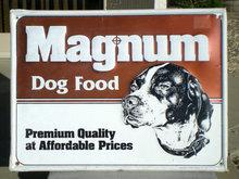 Magnum Dog Food Sign