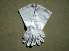Cream Plain Costume Gloves