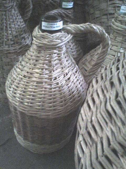 Wine Jug in Woven Basket
