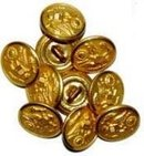 Brass Army Buttons