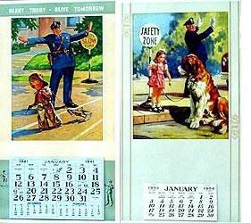 Hintermeister Stuart Calendars 1940s 1950s