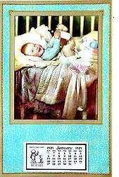 King of Hearts 1929 Calendar