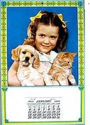 1942 Little Girl Calendar