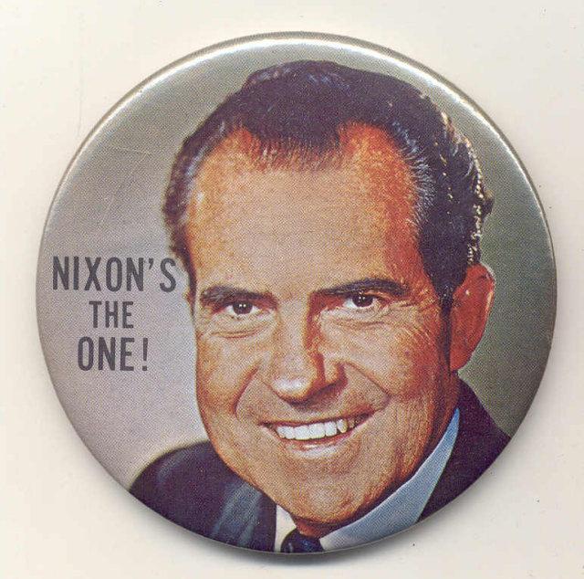 Richard Nixon Political Pinback