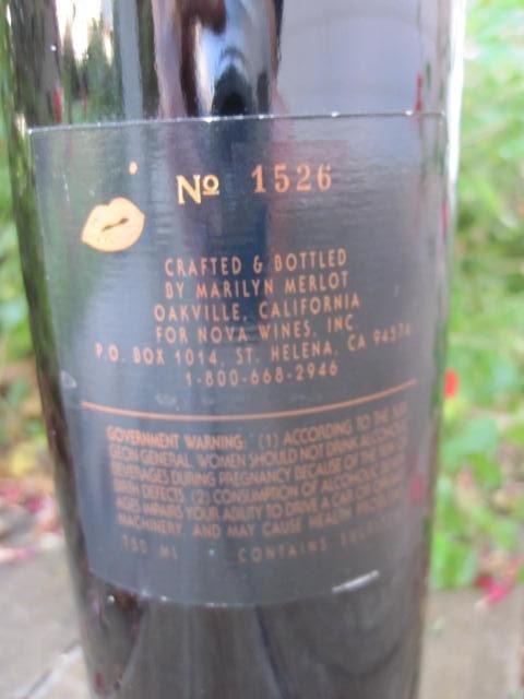 1994 Marilyn Monroe Red Wine Bottle Unopened