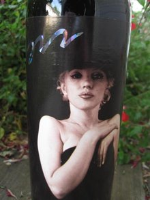 1996 Marilyn Monroe Red Wine Bottle Unopened