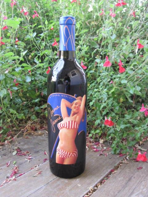 2003 Marilyn Monroe Red Wine Bottle Unopened