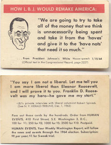 LBJ Comical Card