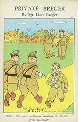 Private Berger Comical Army Postcards