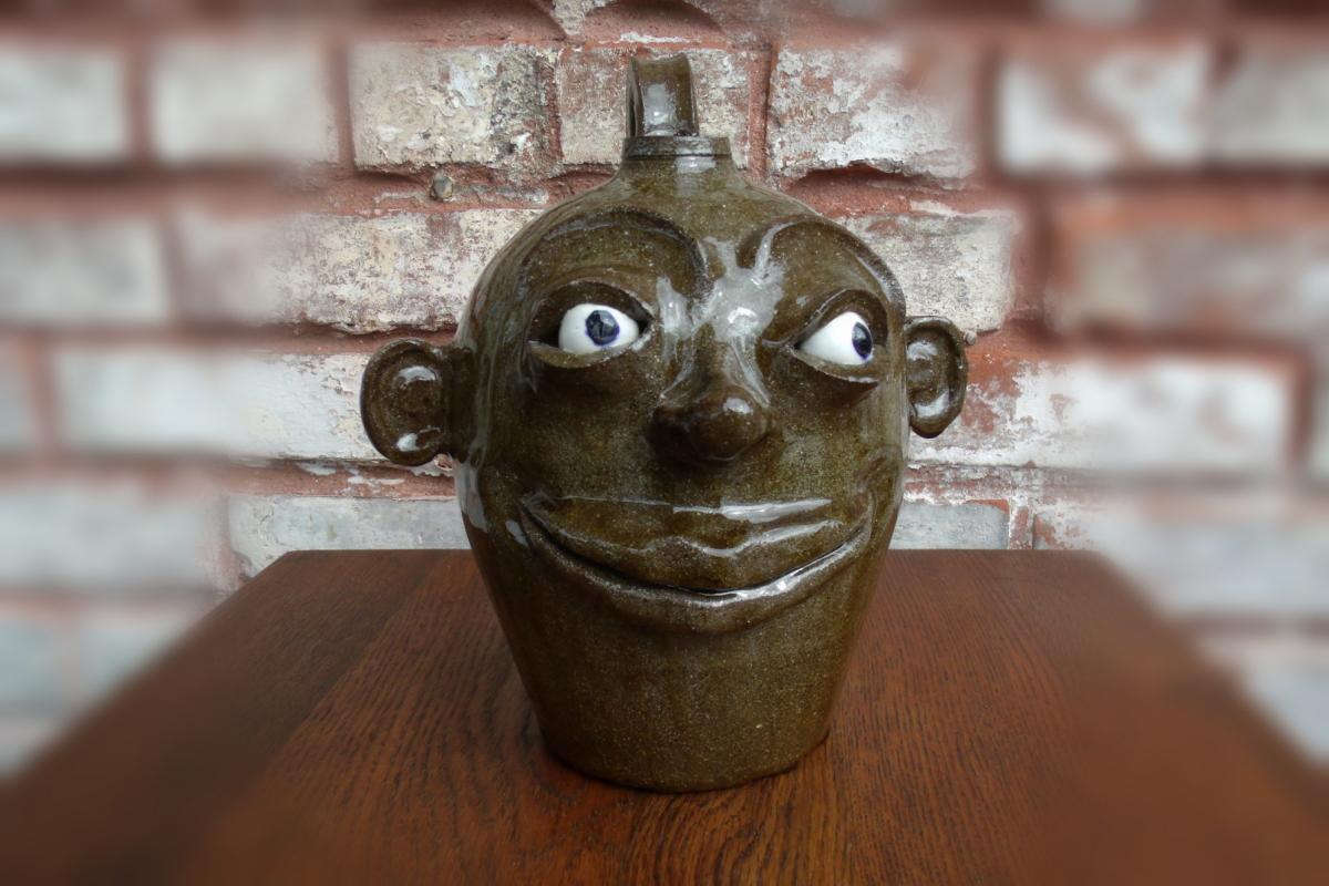 SC Pottery Facejug