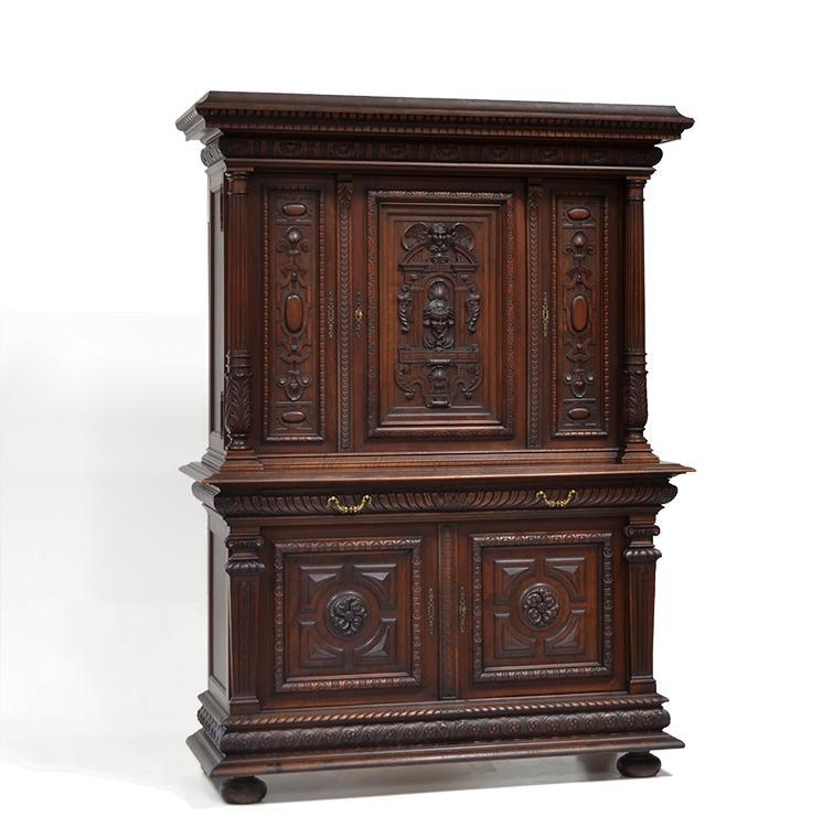 Antique French Carved Renaissance Cabinet Buffet