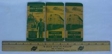 Chicago North Western Railroad Train Wood Ruler & Books