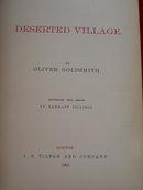 Deserted Village Oliver Goldsmith 1866 Illustrated