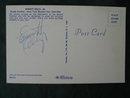 Emmett Kelly New York  World's Fair Clown Autographed Postcard