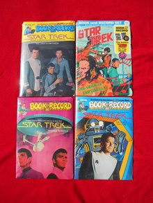 1970's Star Treck Sealed Book & Record Sets