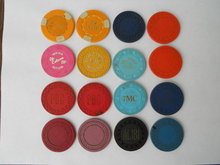 Old Poker Chips No. CA & Nevada Clubs