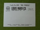 Marx Toys Big Wheel Unused Shipping Label Forms (50)
